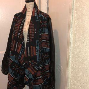 Printed shawl coat